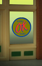 "Ok Used Cars Neon Window Sign -Can Be Trimmed As Small As O.9"" W X 0 .85"" T"