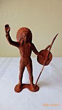 """VTG 1964 Louis Marx Toys Chief Indian War Bonnet Collectible Plastic 6"""" Figure"""