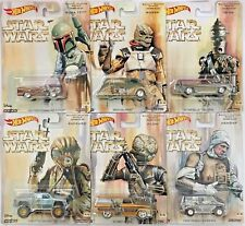 Hot Wheels - Star Wars Bounty Hunter Series FULL SET of 6! Real Riders ALL METAL
