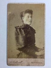 Victorian Carte De Visite CDV Photo - Lady - G Caldwell : Nottingham