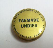 Vintage Sewing Advertising Tape Measure - FAEMADE UNDIES
