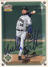 MIKE FETTERS MILWAUKEE BREWERS SIGNED CARD ANGELS DIAMONDBACKS DODGERS TWINS A'S
