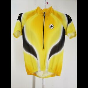 Casttelli Men's Team Covered Cycling Jersey Size Small Yellow Black