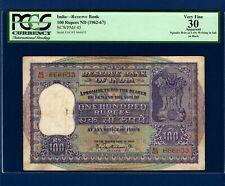 { SEMI FANCY } RS. 100 PICK 45 (1962-67) { P. C. BHATTACHARYA } PCGS 30 INDIA