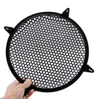 Black Mesh Round Car Subwoofer Speaker Cover Grill for Auto Loudspeake OO
