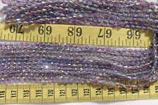 98 Loose Beads 4x3mm  Electroplate Trans Amethyst  Glass Faceted Tear Drop Beads