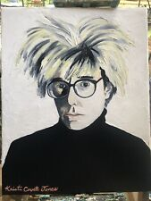 "Original Art Print on Canvas 11/""x14/"" Perry Mason /""Paul Drake/"" Outsider Pop Art"