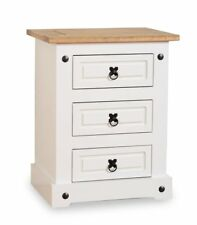 Mercers Furniture CORONA Painted 3 Drawer Bedside