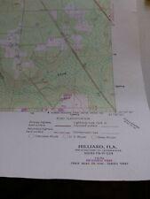 Hilliard Florida Usgs Topographical Geological Survey Quadrangle Map
