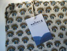 "Walter G. Hand Printed Textile Linen Cadiz Tobacco Pillow Cover 20"""