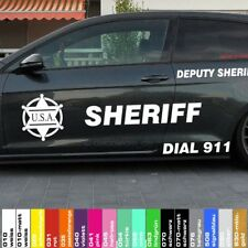 Autoaufkleber Set US Sheriff Polizei Police Cop Car Folie Sticker Shocker Tuning