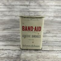 Rare Antique Vintage Band Aid Tin Metal Box Adhesive Bandages Johnson & Johnson
