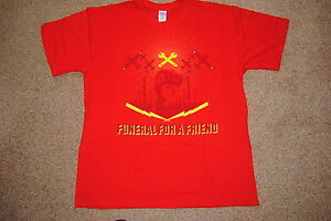FUNERAL FOR A FRIEND WRENCH T SHIRT XL NEW OFFICIAL FFAF MEMORY & HUMANITY HOURS