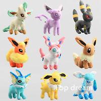 Pokemon Center Evolution of Eevee Umbreon Espeon Sylveon Plush Toy Soft Doll 8''