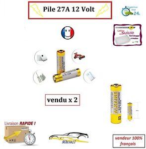 batterie/pile 27A 12v télécommande auto, portail , alarme etc... x 2