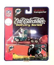 Miami Dolphins 1:87 Licensed Diecast Semi Tractor Trailer Transporter