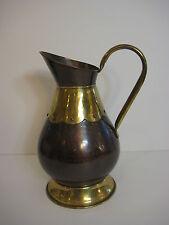 """VTG Belgium Copper & Brass Coal Bucket Pitcher, 12"""" Tall x 8"""" Widest w/Handle"""