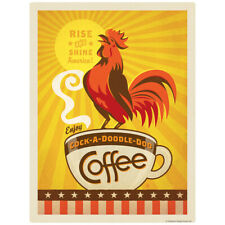 Cock-A-Doodle-Doo Coffee Rooster Decal 26 x 34 Peel and Stick Decor