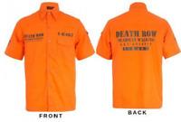 Death Row Prisoner Shirt Orange Convict Mens 1979 Film American Villain Costume