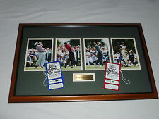 FRAMED GOLF 2002 SKINS GAME TIGER WOODS MARK O MEARA PHIL MICKELSON SIGNED AUTO