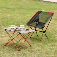 Lightweight Outdoor Camping Pinic Fishing Quick Folding Table Chair & Seat Stool