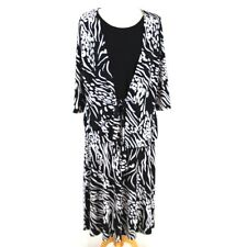NIGHTINGALES Women Two Piece 14 Outfit Black White Skirt Twinset Top Wedding
