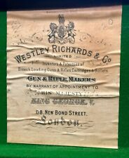 Vintage Westley Richards & Co leather shotgun case for a 20-gauge side-by-side