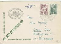 Finland 1959 Helsinki cancel Centenary Tree + Wood  stamps cover ref 21838
