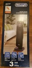 Delonghi 1500W Ceramic Tower Electric Space Heater w/Thermostat & Remote Gray