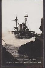 RP HMS MONTAGU AGROUND AT LUNDY  SHIPWRECK  1906