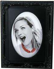 Fotorahmen schwarz zum Aufstellen mit Verzierung  für verschieden große Bilder