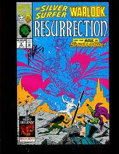 SILVER SURFER WARLOCK RESURRECTION 4 (9.2) AUTO/JIM STARLIN W/COA (S004)