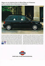 PUBLICITE ADVERTISING  1995    NISSAN   MICRA PLAZA