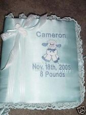 Personalized Baby Infant Newborn Photo Album 3 ring binder or Scrapbook type