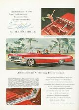 1961 Oldsmobile PRINT AD Olds Starfire 2-Door Convertible beautiful red great