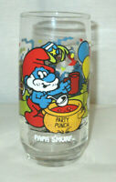 1983 PaPa Smurf Drinking Glass Party Punch free shipping