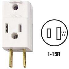 100 Pk Leviton 15A White 1-15P One To Three Plug In Outlet Tap 002-00531-00W