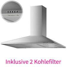 90 cm Edelstahl Dunstabzugshaube Kamin Haube Wandesse + 2 Kohlefilter Ab-/Umluft