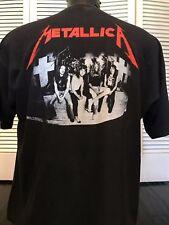 Rare VTG 80's Metallica Master Tour Shirt Sz XL Slayer Rock Ozzy Metal Priest