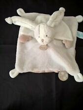 Doudou Babynat Lapin Les Toudoux plat gris blanc creme marron bn0279 etat neuf