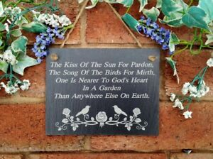The Kiss Of The Sun For Pardon The Song Of The Birds For Mirth Slate Sign2 sizes