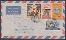 1966 Iraq iraq cover to Germany, rivoluzione Army Day Arab Postal unione [ca807]
