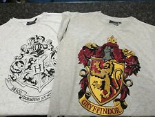 Two Ladies Harry Potter Gryffindor Grey Tshirts Size 12.