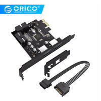 ORICO PCI-E Express to 2-Port USB 3.0 Controller Card Adapter Hub Super Speed
