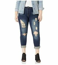 Cover Girl Womens Ripped Torn Distressed Patched Slim Fray Skinny Dark Vintage 3