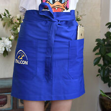 Embroidery Pure Cotton Waiter Waitress Waist Apron Bar cafe Pub 2 Pockets Blue