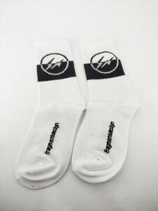 New Custom Nike Air Jordan 3 x Fragment Design White Color Crew Socks DA3595-100