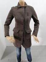 Cappotto BLAUER Donna Taglia Size XS Jacket Woman Veste Femme Lana Marrone 7628