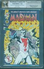 Madman Comics 1 PGX CGC 2X SS 9.8 Michael Laura Allred Signed Frank Miller back