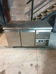 Caravell By Friulinox Commercial Stainless Steel 2 Door Counter Prep Fridge
